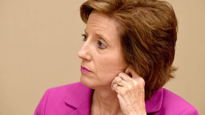 U.S. Rep. Vicky Hartzler listens during a 2018 discussion of the opioid epidemic during a visit to Columbia. Harzler voted against a $25 billion package to shore up the U.S. Postal Service in advance of the November election.
