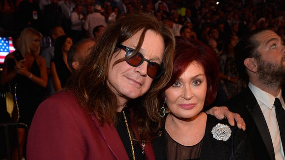 Ozzy Osbourne, left, and Sharon Osbourne, in Las Vegas