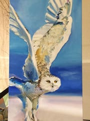 Brooke Newman's owl painting will become part of the