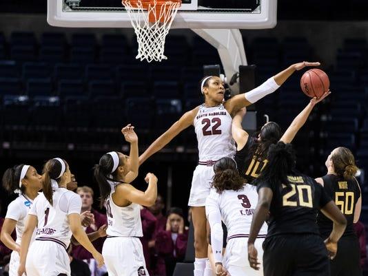 NCAA Womens Basketball: NCAA Tournament-Stockton Regional-South Carolina vs. Florida State