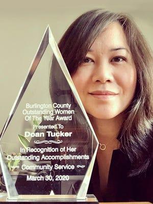 Doan Tucker, a Bordentown City resident, has been named Burlington County Woman of the Year.