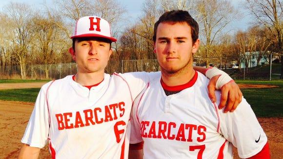 Hendersonvill's Austin Redden, left and Justin Sparks.