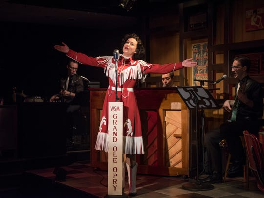 """Kelley Faulkner stars in the Milwaukee Repertory Theater's """"Always ... Patsy Cline,"""" which ends its run Sunday."""