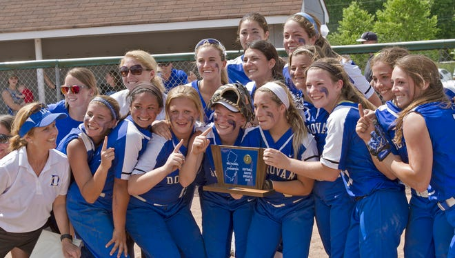 Donovan Catholic defeats  Notre Dame 3-1 in Non-Public South A state sectional softball finals in Gallway Township on June 7, 2016
