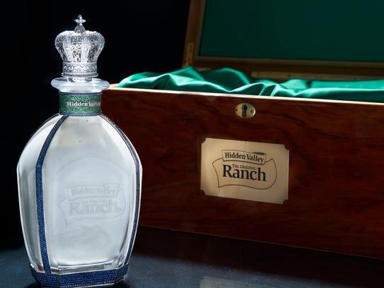 Hidden Valley Ranch's bejeweled bottle.