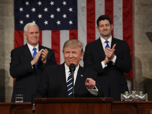 BESTPIX Donald Trump Delivers Address To Joint Session Of Congress