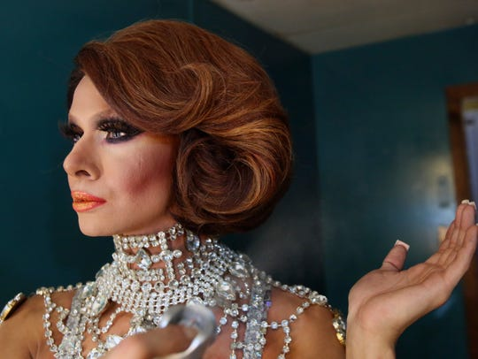 Trinity Taylor  gets ready to perform in the LaBoy