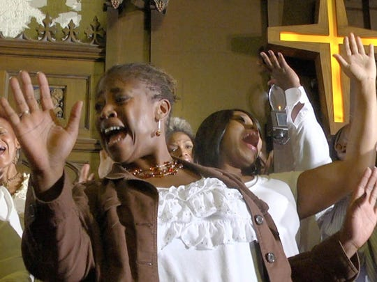 """The Hallelujah Singers, featuring soprano Rosa Warner-Jones, perform in the documentary """"Let's Have Some Church Detroit Style."""" The movie will have its premiere during this year's Freep Film Festival."""