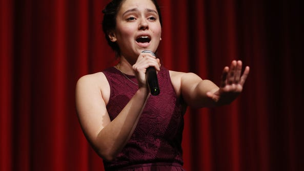 Julia Rangel performs during the Morris Educational