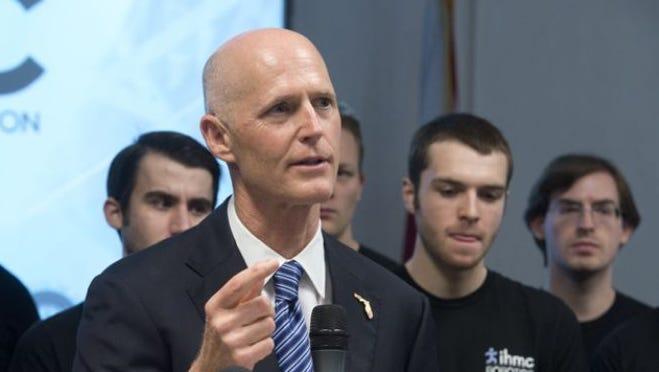 Florida governor Rick Scott was in Pensacola on Monday.