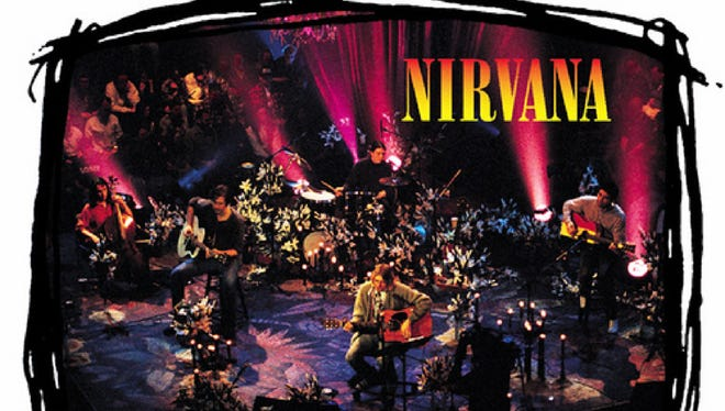 """The cover to Nirvana's """"MTV Unplugged in New York"""" album."""