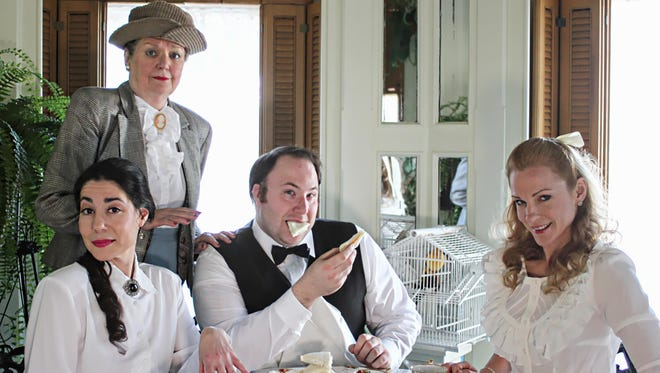 """Performing in the Southern Tier Actors Read production of """"The Importance of Being Earnest"""" are, from left, Andrea Gregori, Judy McMahon, Rich Bocek and Jean Graham."""