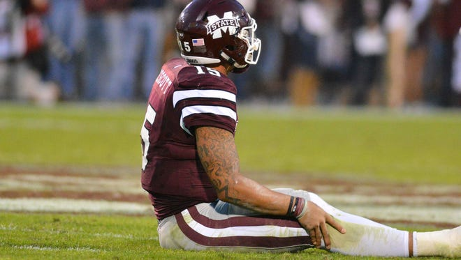 Mississippi State dropped out of the AP's  top 25 on Sunday.