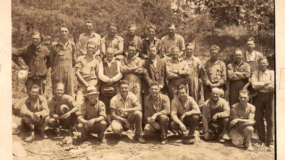 Gloria Ranker shared this photo of men at Camp Ganoga on the Susquehanna Trail in Newberry Township, taken May 28, 1936.