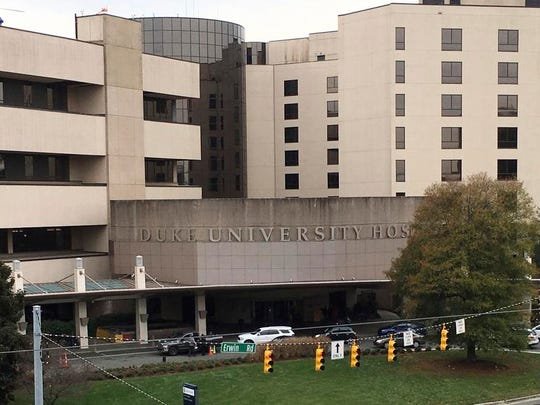 Duke University Hospital is part of the Duke University Medical Center in Durham, North Carolina.
