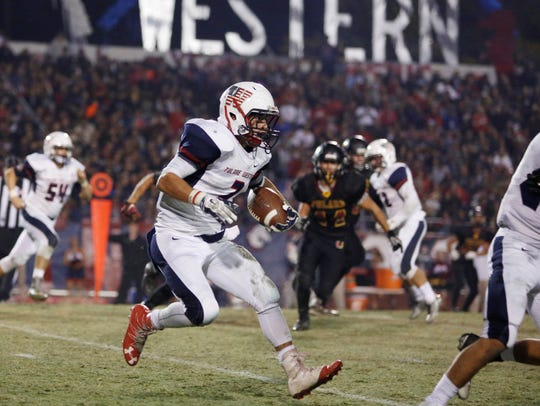 Tulare Western senior running back David Alcantar will