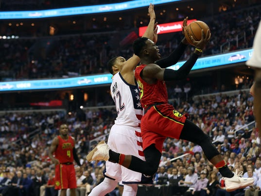 USP NBA: PLAYOFFS-ATLANTA HAWKS AT WASHINGTON WIZA S BKN WAS ATL USA DC