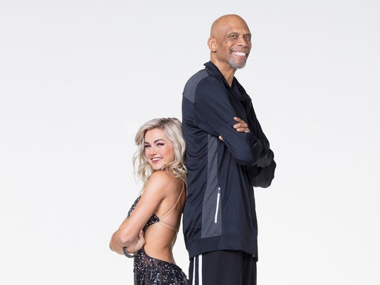 Basketball star Kareen Abdul-Jabbar with his partner,