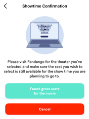 Sinemia uses movie-ticketing sites such as Fandango