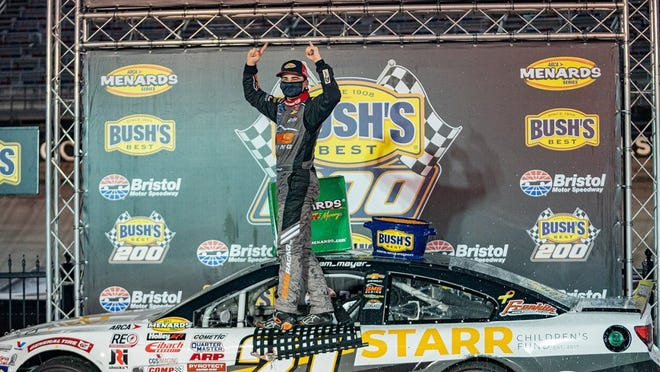 "Sam Mayer wins at Bristol Motor Speedway "" ARCA Menards Series"