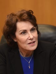 Rep. Jacky Rosen, D-Las Vegas, in the Reno Gazette-Journal offices on July 7. The freshman congresswoman is challenging Republican Sen. Dean Heller in the 2018 midterms.
