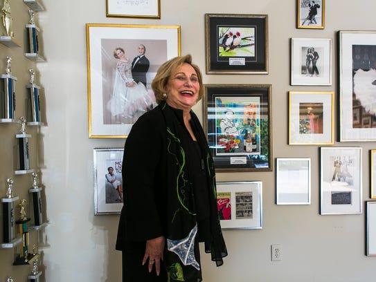 Champion ballroom dancer Joan Weiss, 79, poses for