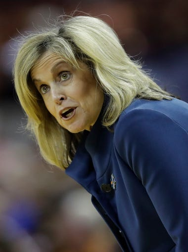 Arizona State head coach Charli Turner Thorne during a second-round game in the NCAA women's college basketball tournament against Texas, Monday, March 19, 2018, in Austin, Texas. Texas won 85-65.