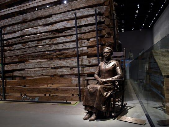 A statue of pioneer Clara Brown, who was born a slave