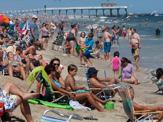 People enjoy the unofficial last day of summer on the Belmar beach   -September 7, 2015-Belmar, NJ.-Staff photographer/Bob Bielk/Asbury Park Press