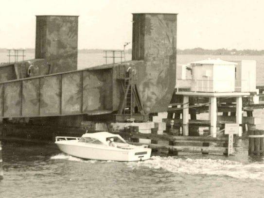 Railroad Bridge over the St. Lucie River in 1969.