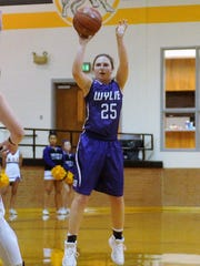 Wylie guard Lauren Fulenwider (25) takes a 3-point