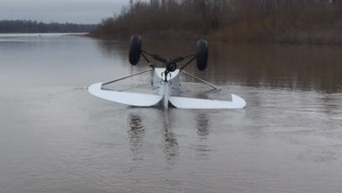 The pilot of this small plane was found alive Sunday morning after he apparently crashed Saturday night.