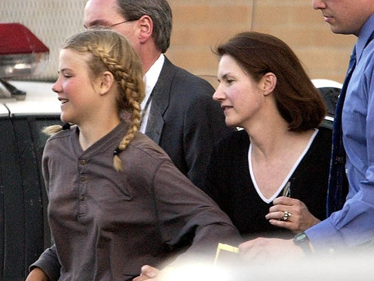 Elizabeth Smart, accompanied by her mother, Lois Smart,