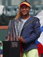 Naomi Osaka is the winner of the BNP Paribas Open,