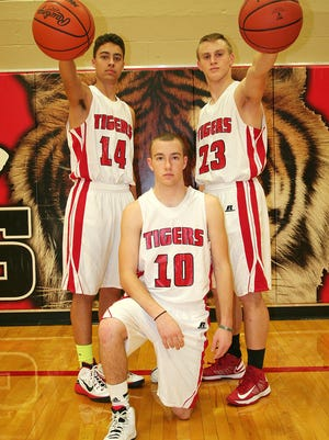 St. Philip will be led by returners, from left, Dreyson English, Hunter Haley and Kevin Greenman.