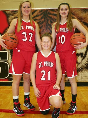 St. Philip will be led by key returners, including, from left, Emily Schaub, Nina Winkler and Megan Gordon.