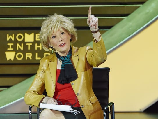 Television journalist Lesley Stahl at the speaks the