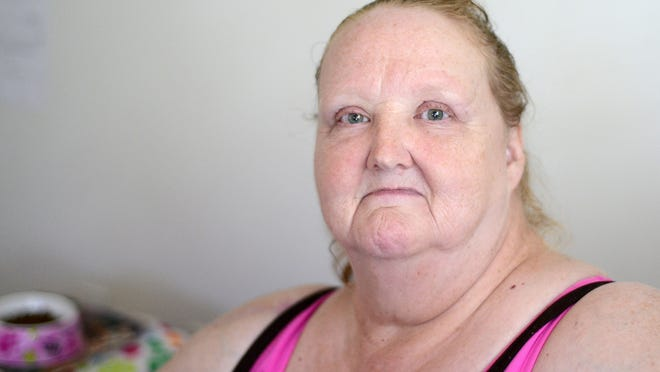 Gracie Ellingson, 62, of Stayton, says she is waiting for a new power wheelchair to help her get around.