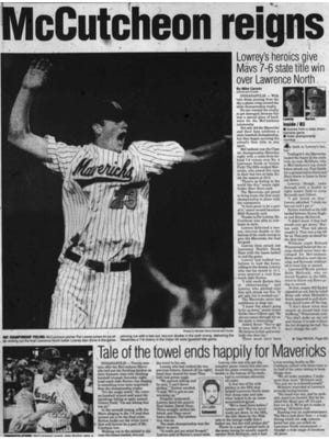 The sports front page of the Journal & Courier on June 27, 1999.