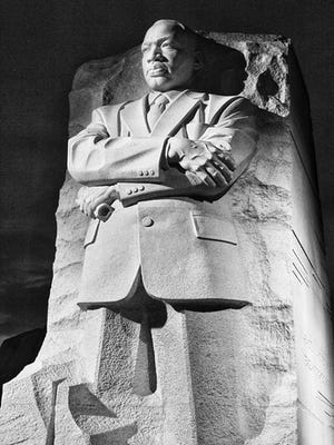 """Your Take contributor Kip Schmidt submitted his photo of the Martin Luther King Jr. memorial and his thoughts on what King would say today: """"Long-term solutions require cooperation of both sides and bridging the divide."""""""