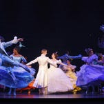"Andy Huntington and Paige Faure appear with the cast during a performance of the national tour of ""Rogers + Hammerstein's Cinderella."" Lifetime TV's ""The Balancing Act"" will feature several touring Broadway shows this summer."