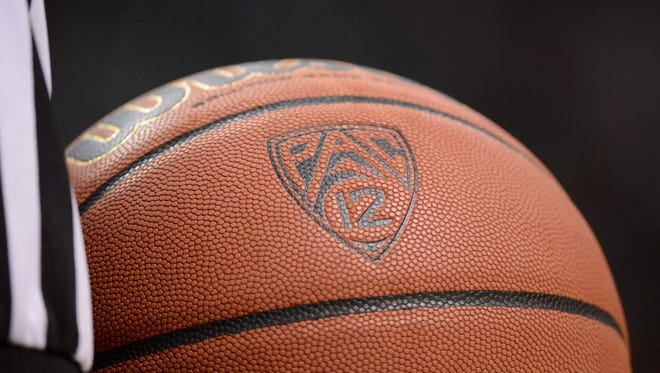 A view of a Pac-12 basketball.
