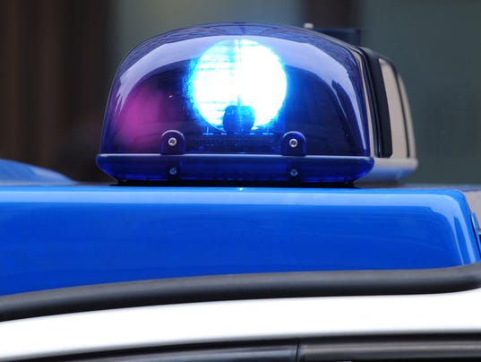 The light on the roof of a police car is