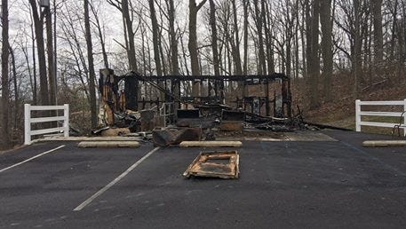 Detectives in Gloucester County are investigating a fire at Lake Park Cemetery in Woolwich.