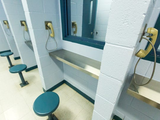 Pictured is the visiting area at the Juvenile Detention