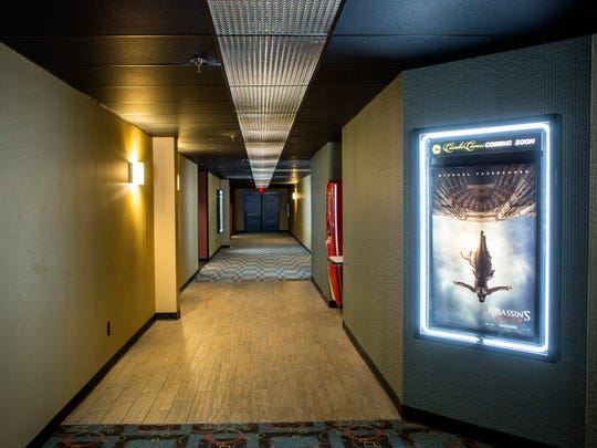 A hallway pictured Friday, June 3, 2016 at Birchwood Luxury 10 at the Birchwood Mall in Fort Gratiot. The theater will reopen on June 9.