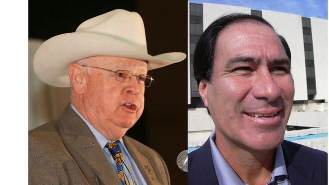 Jim Kaelin and Larry Olivarez are seeking election for Nueces County sheriff.
