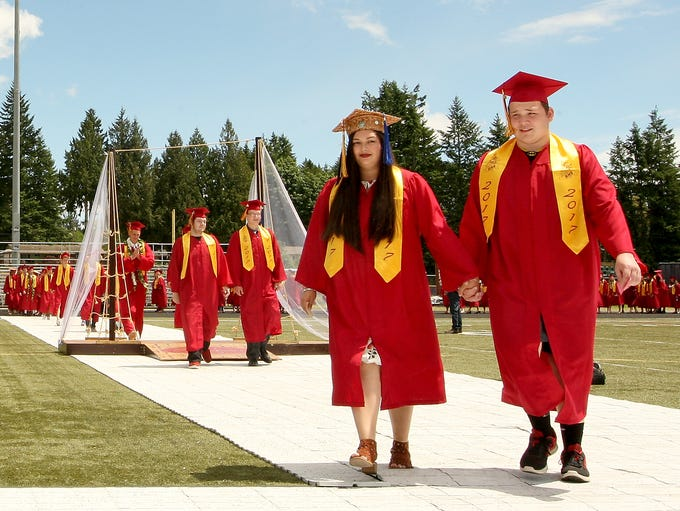 Members of the Kingston Class of 2017 enter North Kitsap