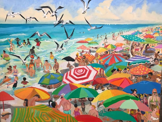 "Artist Michael Enns's ""Mucho La Playa."" He is one of"