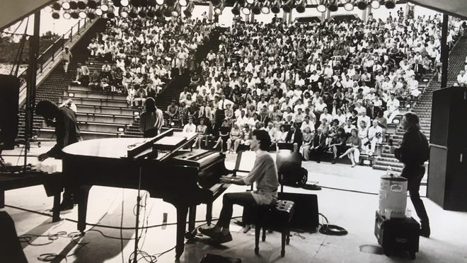 The Lettermen perform at the opening of Augusta's new Riverwalk Amphitheater in 1990.
